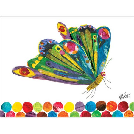 Butterfly eric carle clipart clip transparent Oopsy Daisy\'s Eric Carle\'s Fluttering Butterfly Canvas Wall Art, Size 24x18 clip transparent
