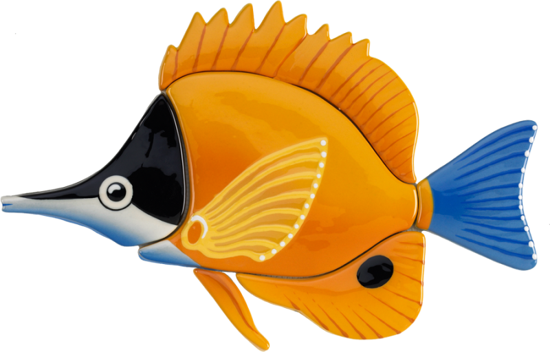 Butterfly fish clipart clip transparent stock Little Tile Inc - online source to Butterflyfish Series pool mosaics clip transparent stock