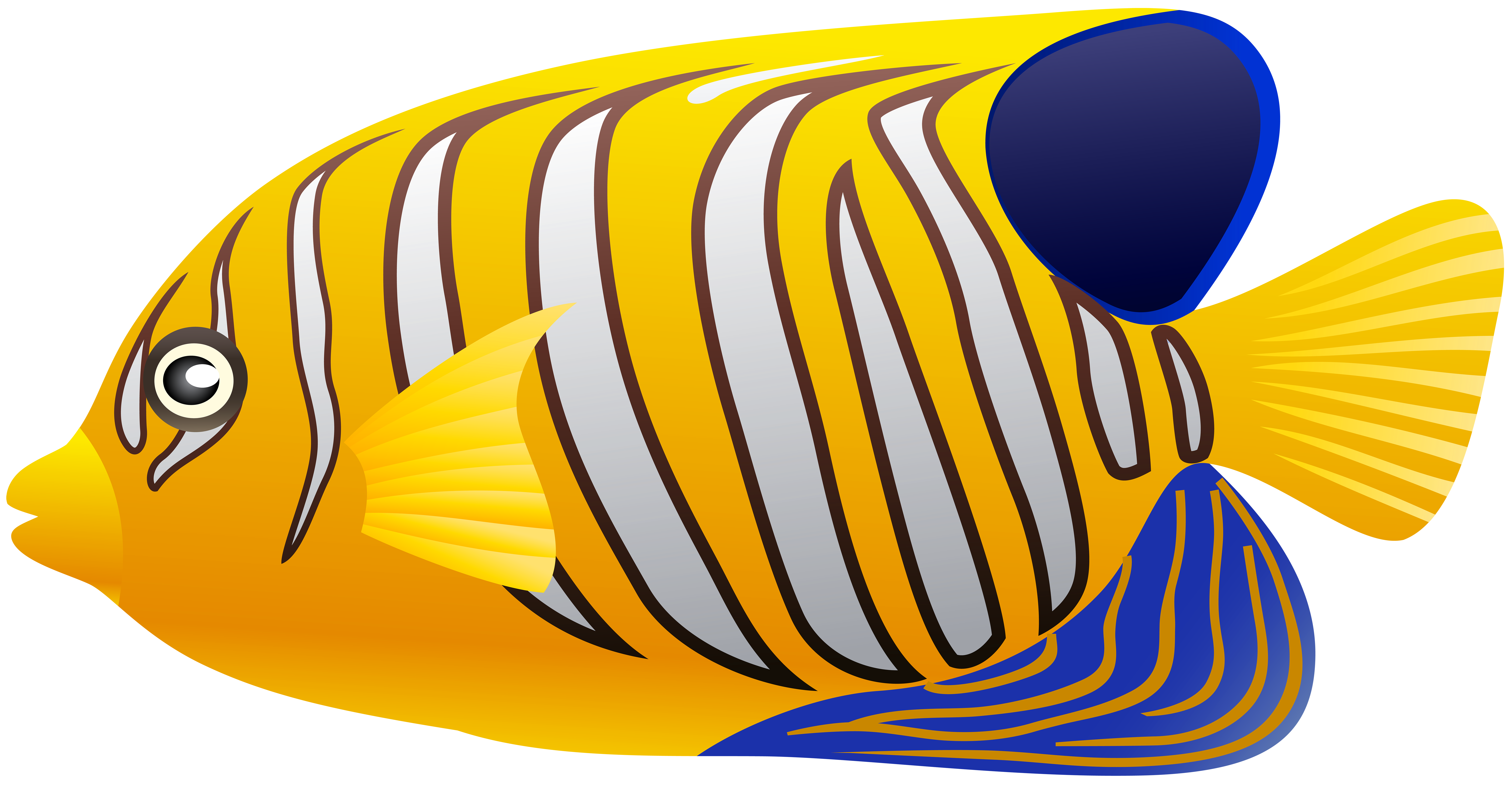 Butterfly fish clipart vector download Yellow Fish PNG Clip Art - Best WEB Clipart vector download