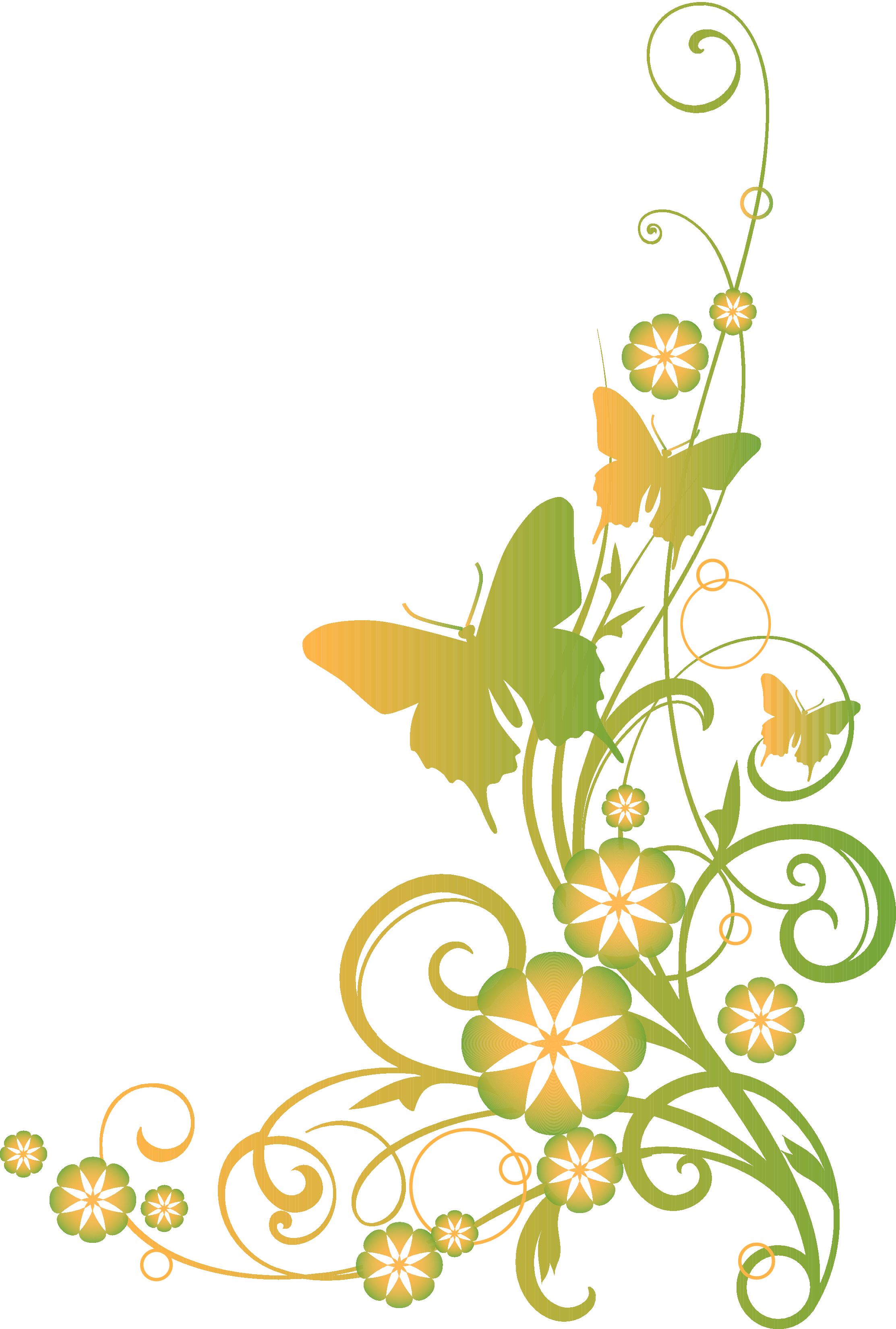 Flower vines clipart clipart royalty free download Religious Clip Art | Vines and Butterflies Christian Clipart ... clipart royalty free download