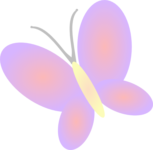 Flower butterfly clipart banner royalty free stock Lilac Butterfly Clip Art at Clker.com - vector clip art online ... banner royalty free stock
