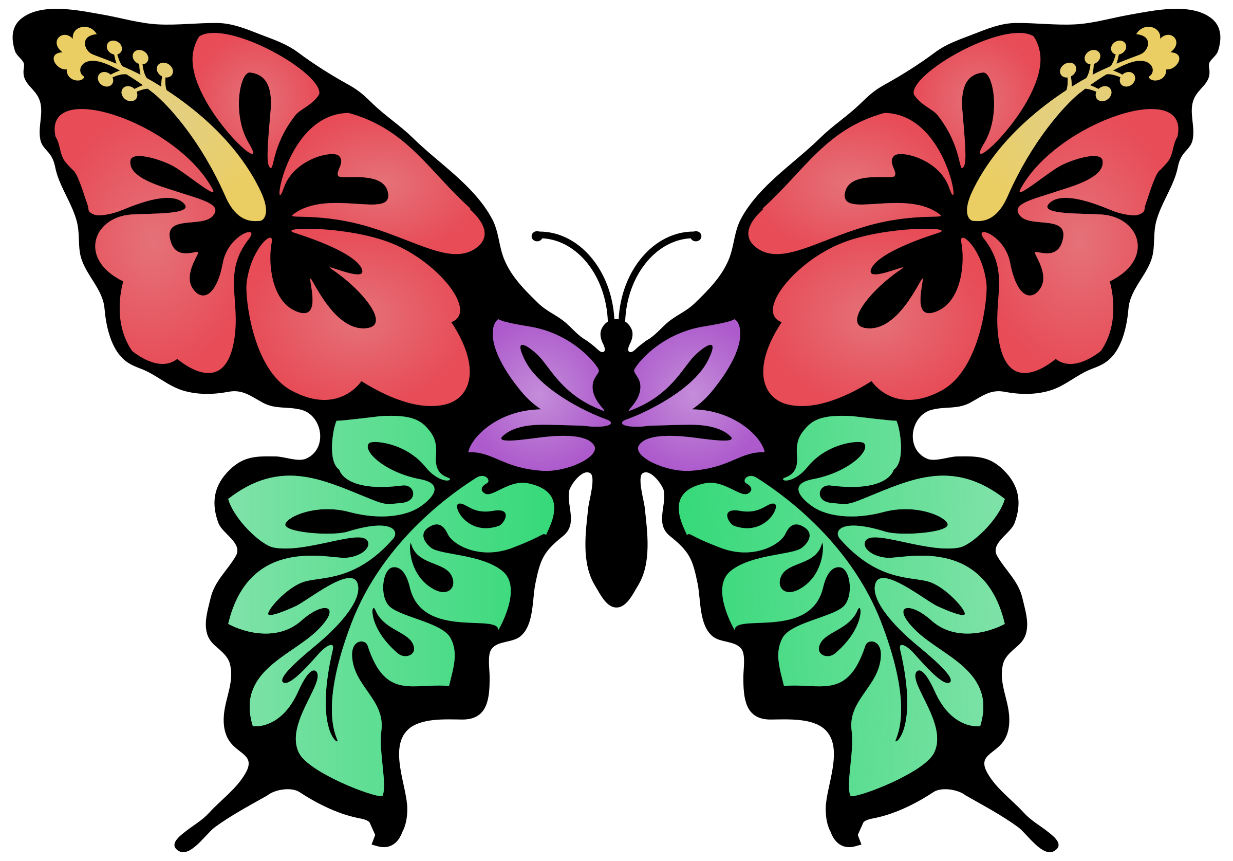 Butterfly flower clipart clip art transparent library Butterfly Flower Clipart at GetDrawings.com | Free for personal use ... clip art transparent library