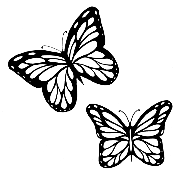 Butterfly flying clipart black and white clipart download Free Butterflies Black And White Outline, Download Free Clip Art ... clipart download