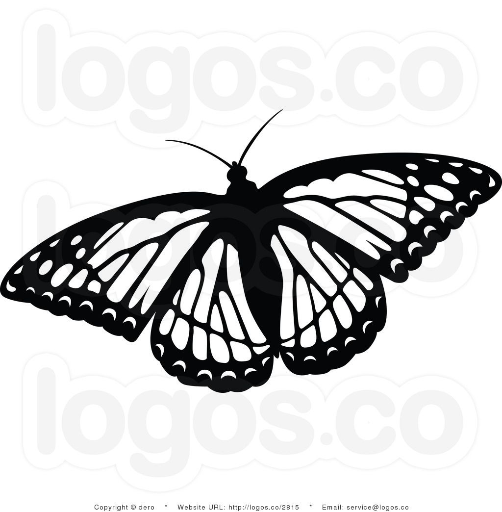 Butterfly flying clipart black and white picture freeuse butterfly clip art | ... Free Black and White Flying Butterfly Logo ... picture freeuse