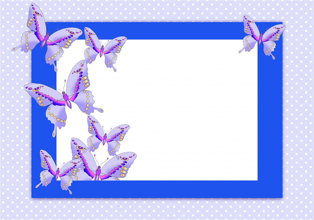 Butterfly frame clipart png transparent download Butterfly Border Clipart png transparent download