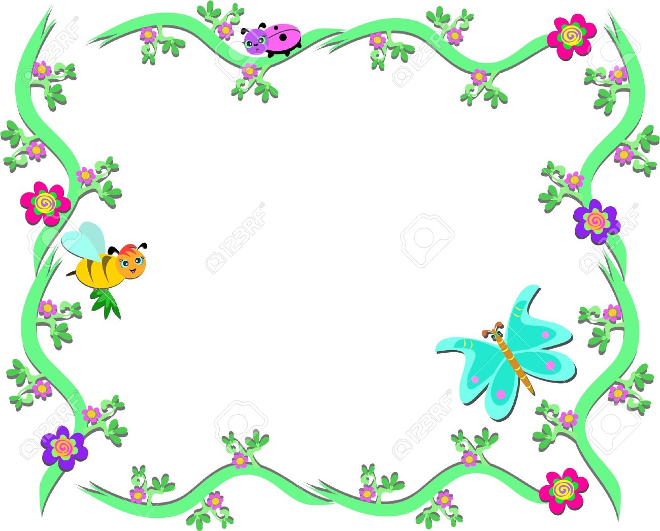 Butterfly frame clipart banner royalty free download Butterflies Clipart Border | Free download best Butterflies Clipart ... banner royalty free download