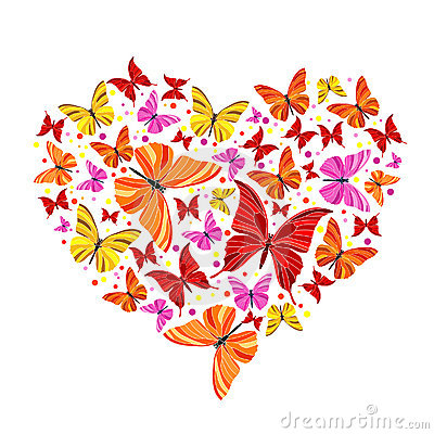 Butterfly hearts clipart png transparent Free butterfly hearts clipart - ClipartFest png transparent