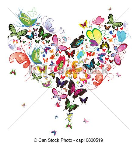 Butterfly hearts clipart svg freeuse stock Vector Clip Art of Butterfly heart, valentine illustration ... svg freeuse stock