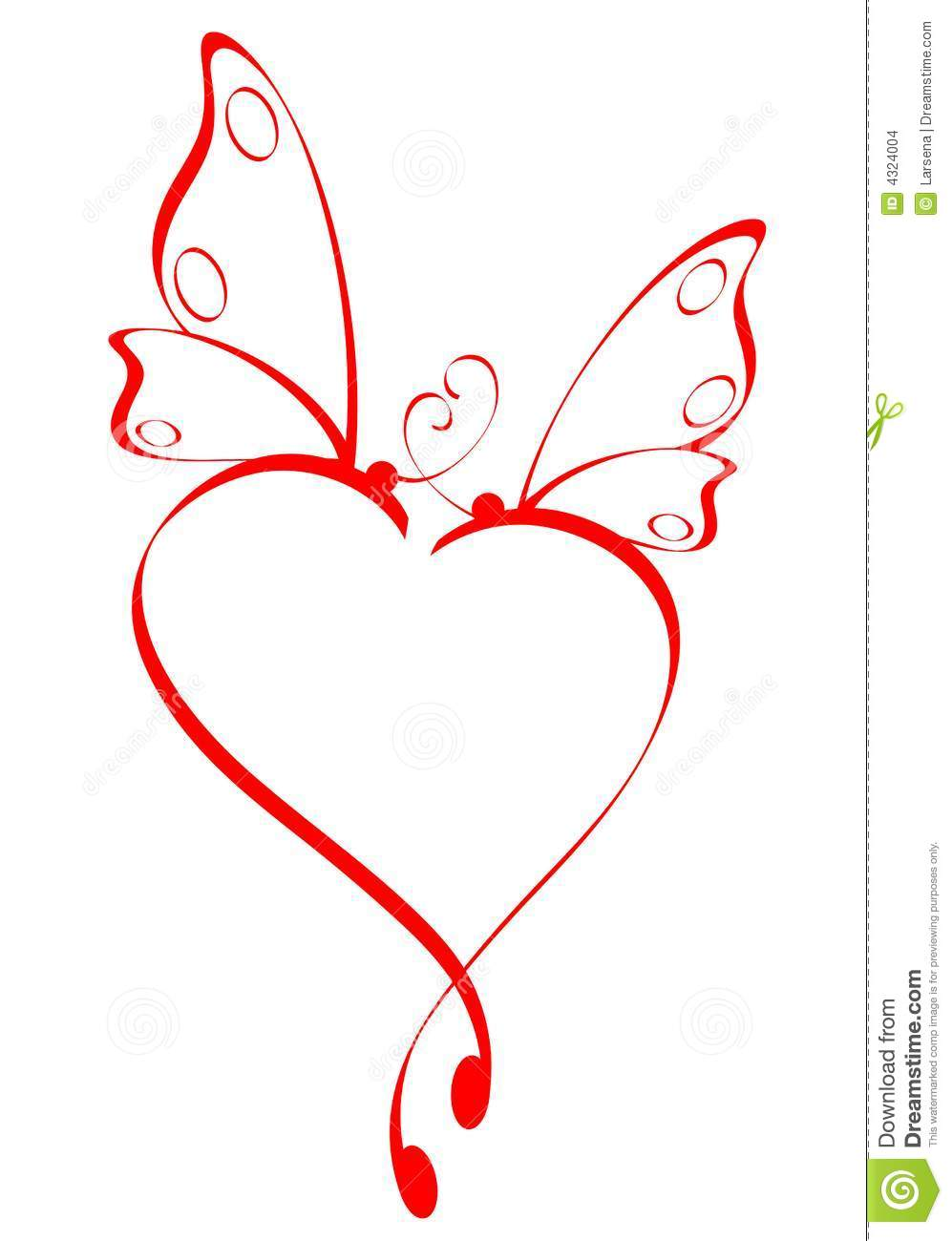 Butterfly hearts clipart. Heart stock images image