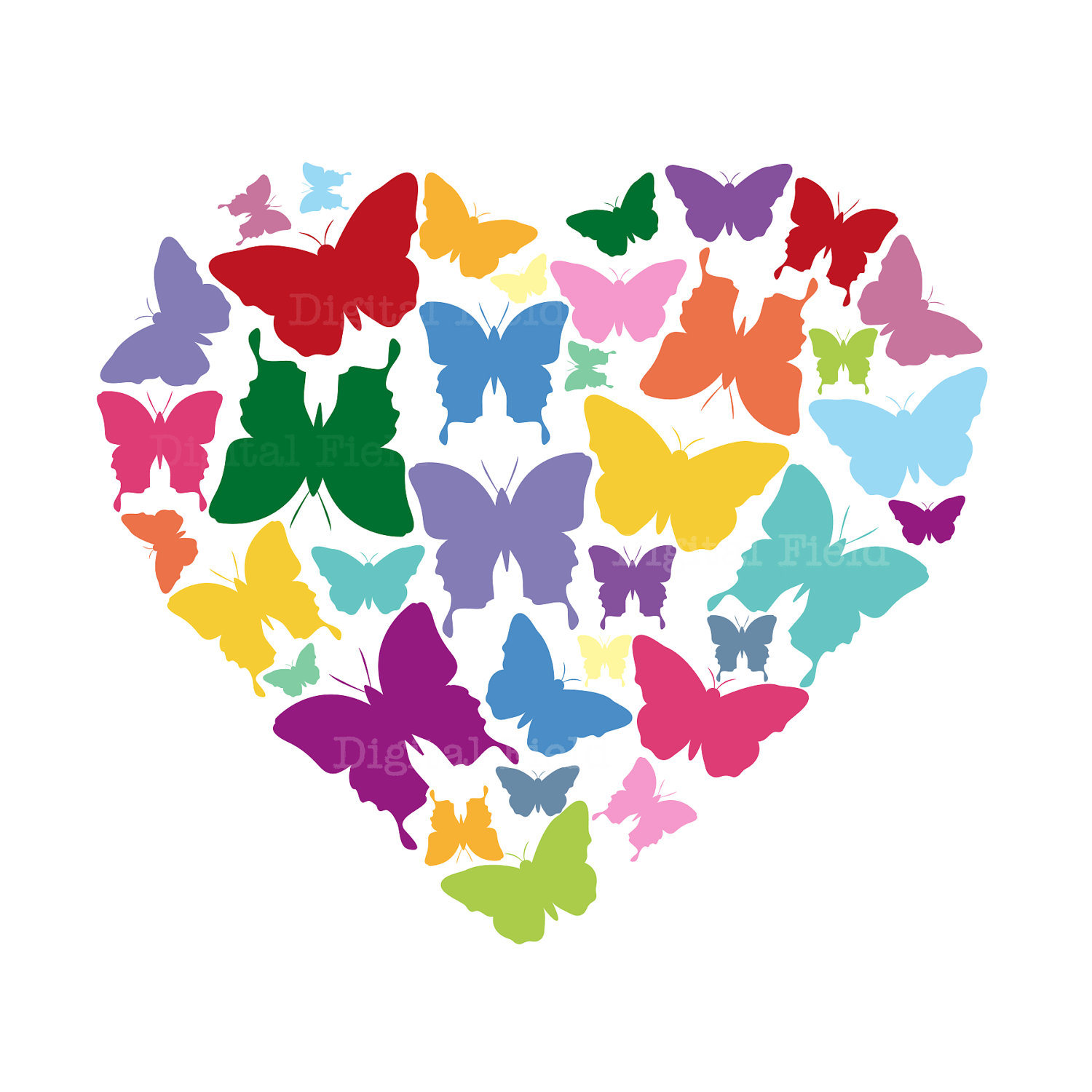 Butterfly hearts clipart banner stock Free butterfly hearts clipart - ClipartFest banner stock