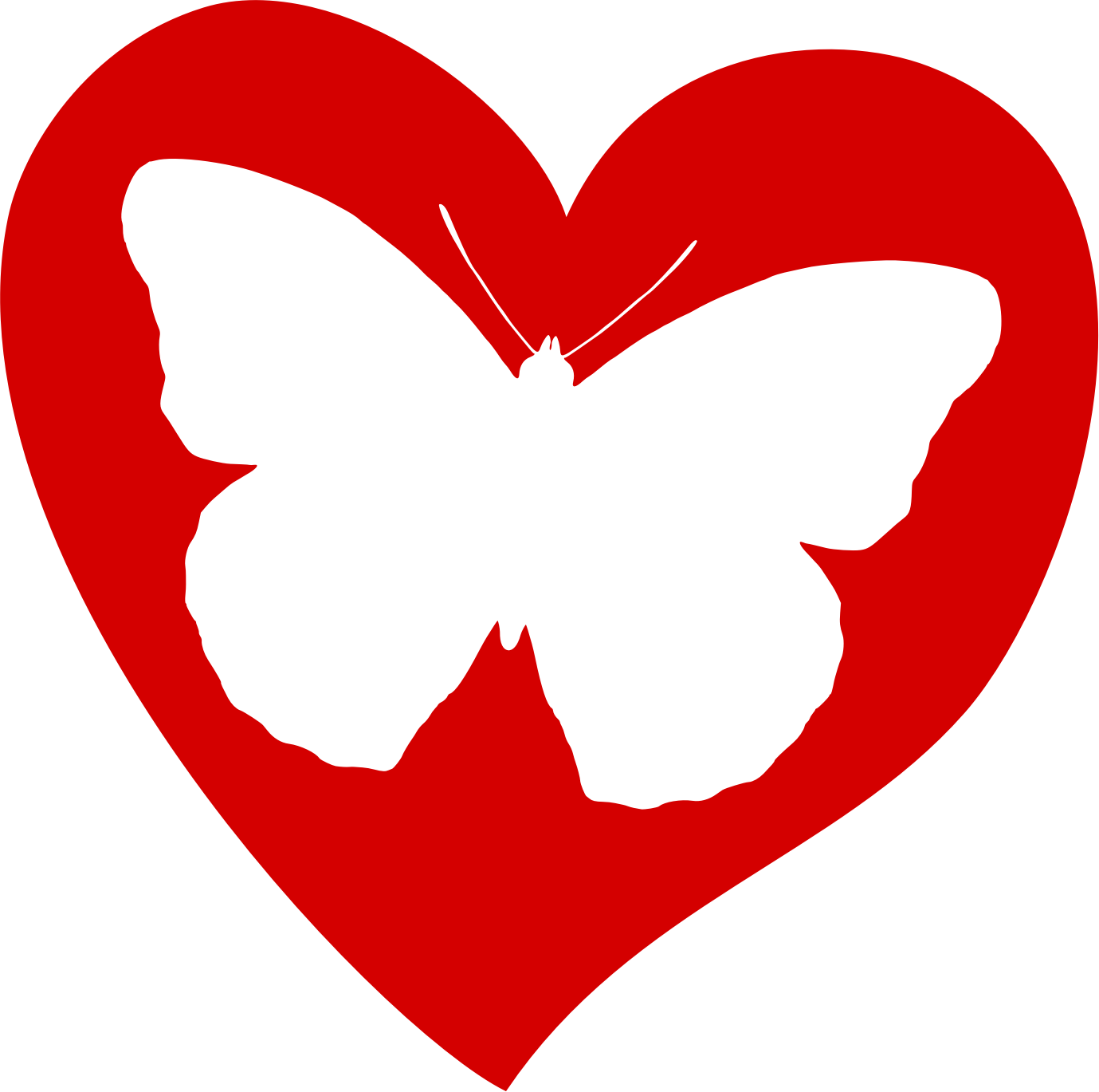 Butterfly hearts clipart picture library stock Butterfly hearts clipart - ClipartFest picture library stock