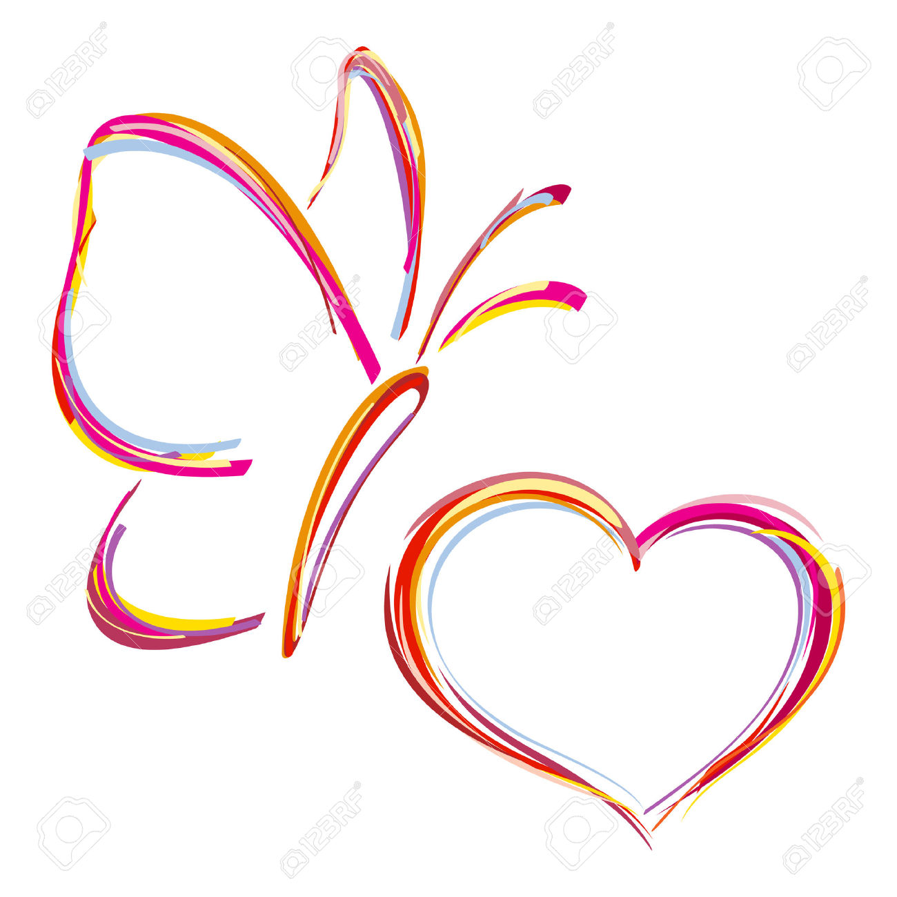 Butterfly hearts clipart picture royalty free stock 11,640 Butterfly Heart Stock Vector Illustration And Royalty Free ... picture royalty free stock