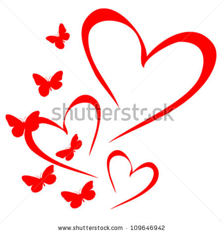 Butterfly hearts clipart jpg black and white library Butterfly Heart Stock Images, Royalty-Free Images & Vectors ... jpg black and white library