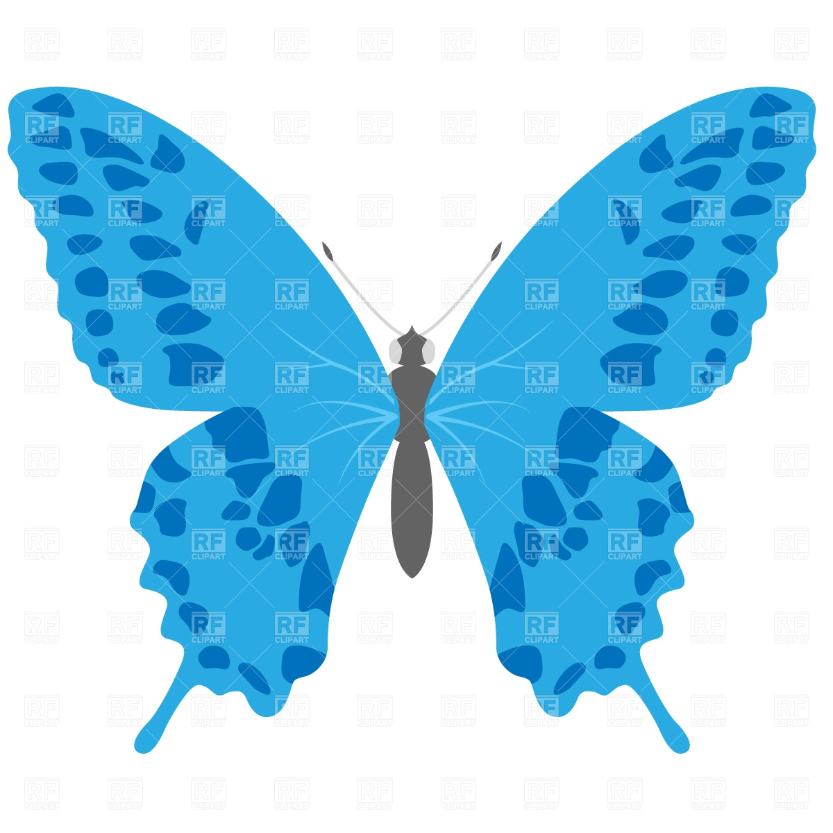 Butterfly images free clipart clip art black and white download Blue butterfly free clipart - ClipartFest clip art black and white download