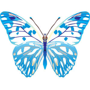Butterfly images free clipart vector transparent library Blue butterfly free clipart - ClipartFest vector transparent library