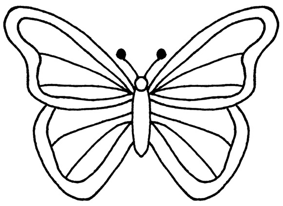 Butterfly images free clipart image royalty free library Butterfly Outline Free Clipart image royalty free library