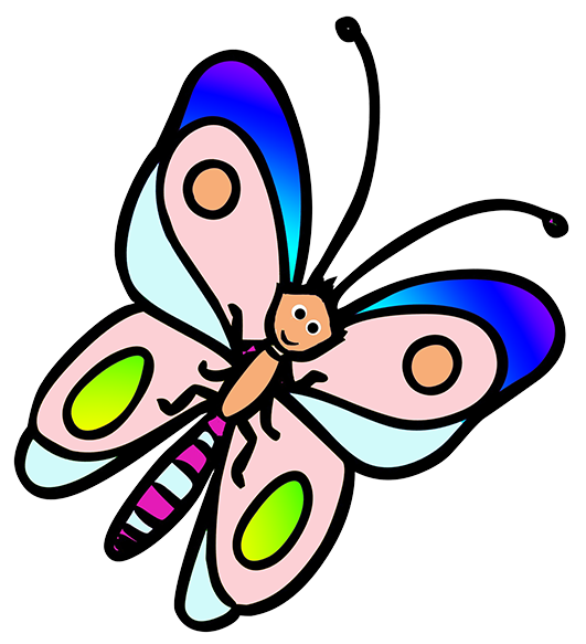 Butterfly on a book clipart picture stock Butterfly Clipart picture stock