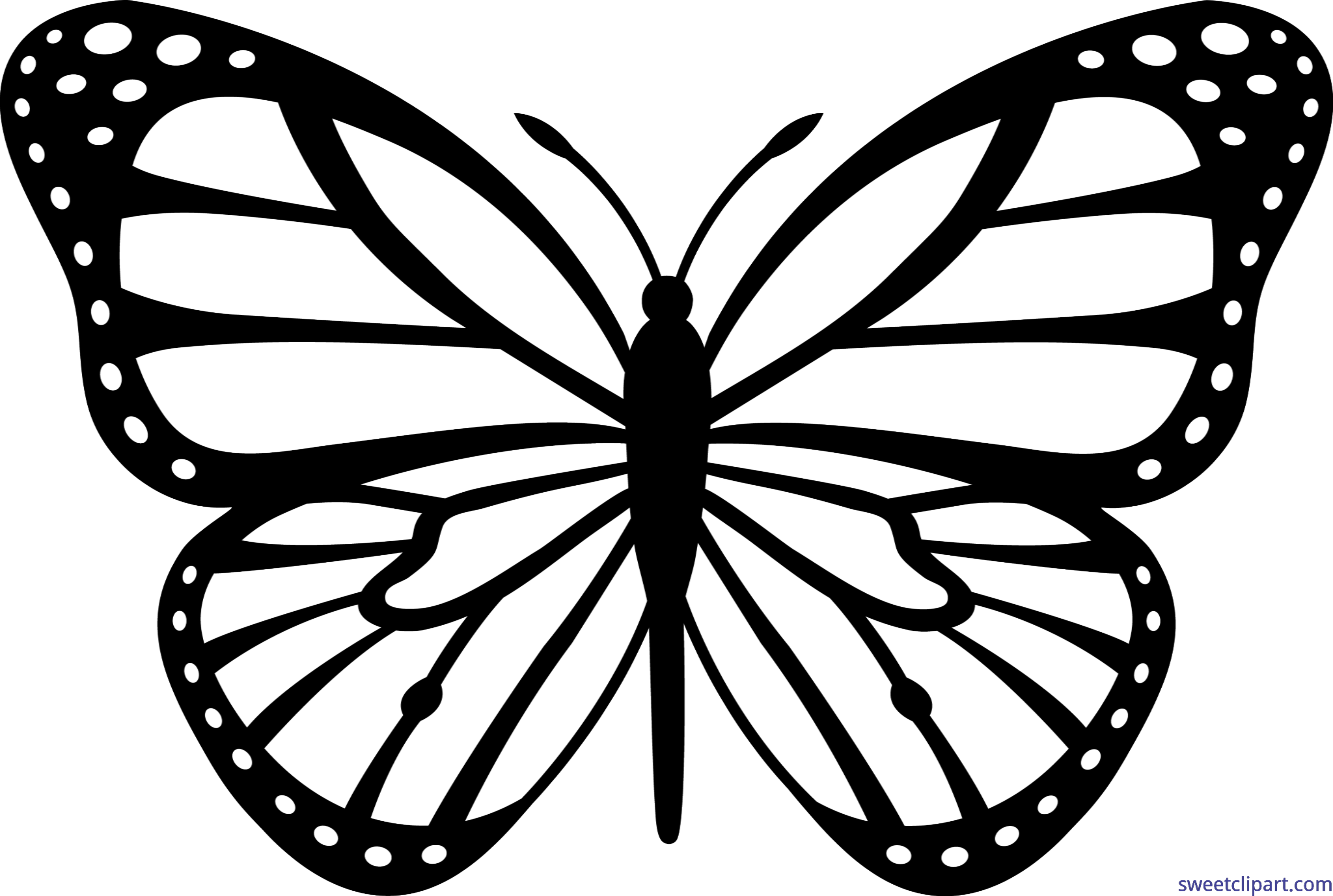 Butterfly on a book clipart banner free stock Monarch Butterfly Black White Clip Art - Sweet Clip Art banner free stock
