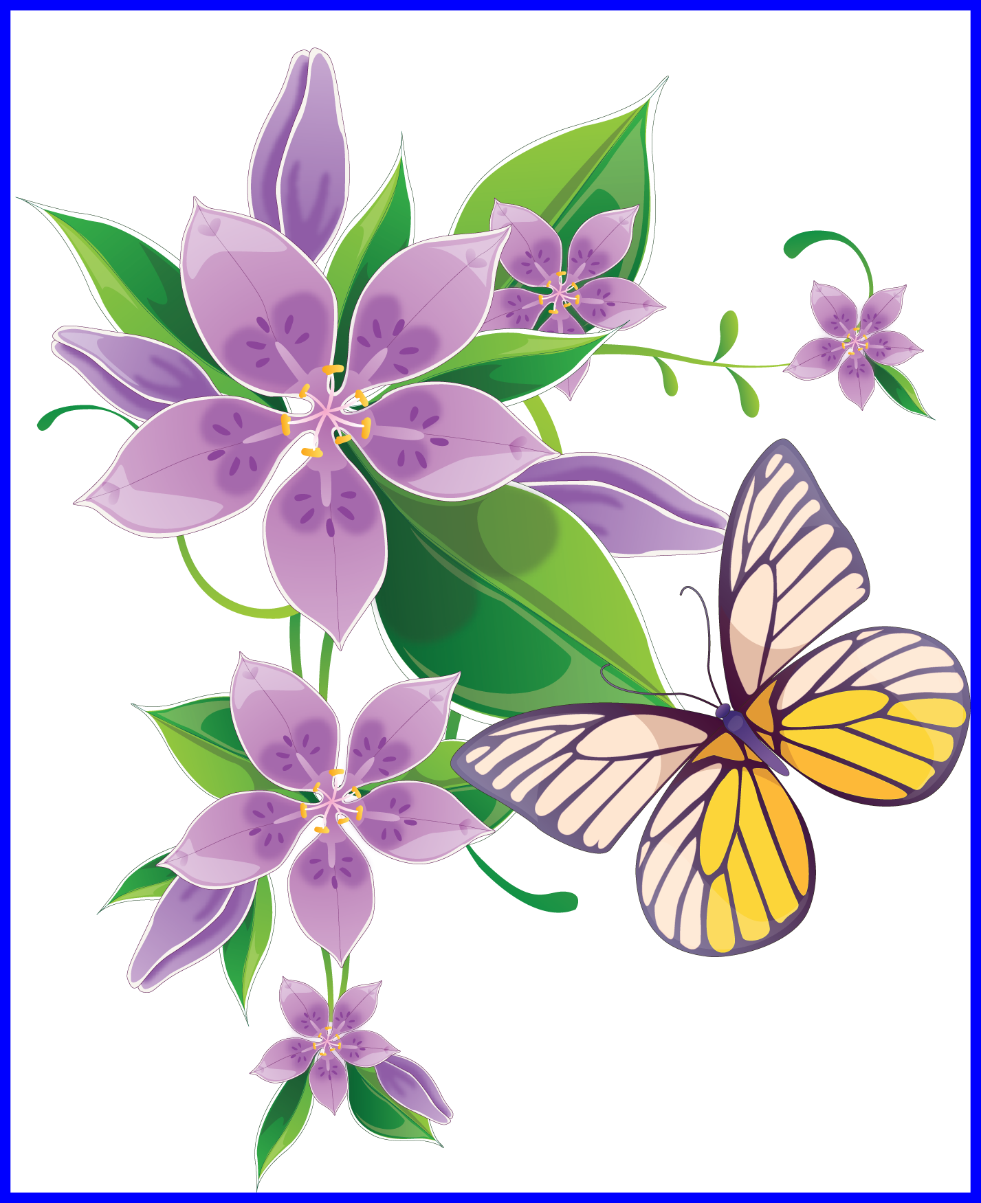 Butterfly on flower clipart picture library Best Clipart Butterflies For Butterfly On Flower Trends And Clip Art ... picture library