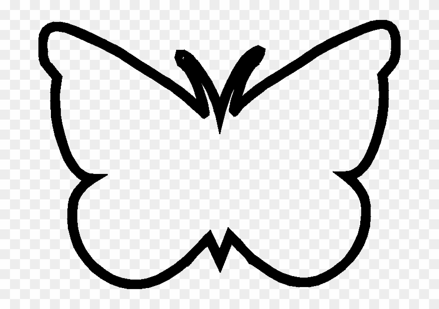 Black outline clipart of butterfly banner library stock Butterfly Template - Clipart Library - Butterfly Outline Clip Art ... banner library stock