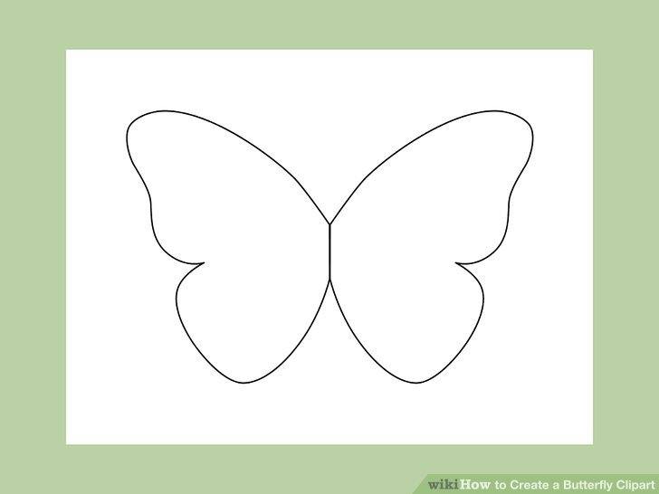 Butterfly pics clipart jpg black and white stock How to Create a Butterfly Clipart: 10 Steps (with Pictures) jpg black and white stock
