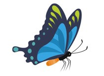 Butterfly side view clipart png black and white download Butterfly side view clipart 2 » Clipart Portal png black and white download