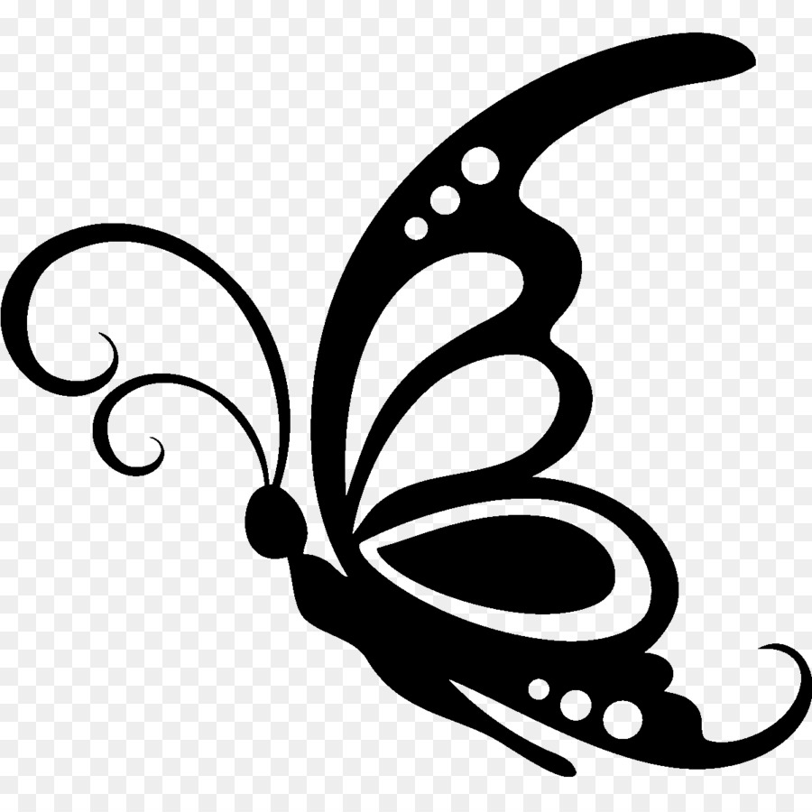 Butterfly stencil clipart banner download Black And White Flower png download - 1200*1200 - Free Transparent ... banner download