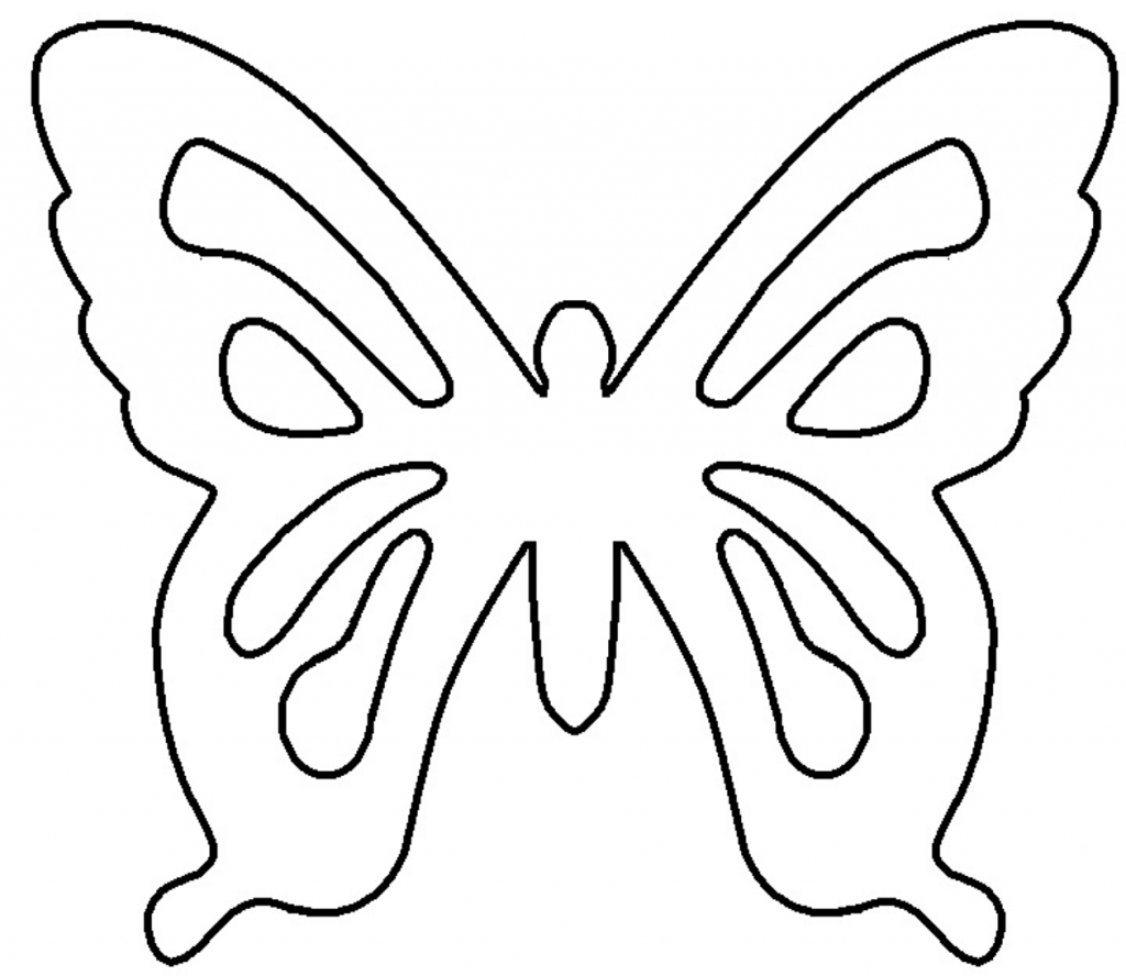 Butterfly stencil clipart picture black and white Best Butterfly Outline #1177 - Clipartion.com picture black and white