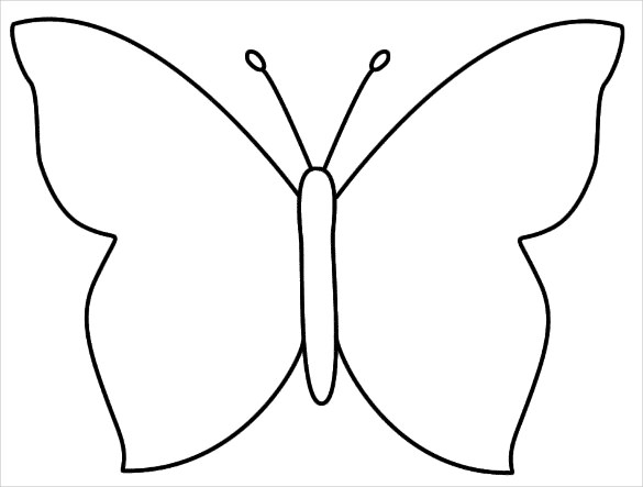 Butterfly stencil clipart graphic download 28+ Butterfly Templates - Printable Crafts & Colouring Pages | Free ... graphic download