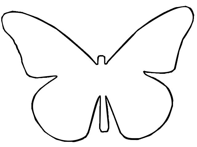 Butterfly stencil clipart image free download Drawn butterfly outline #3 | crafts | Butterfly outline, Butterfly ... image free download