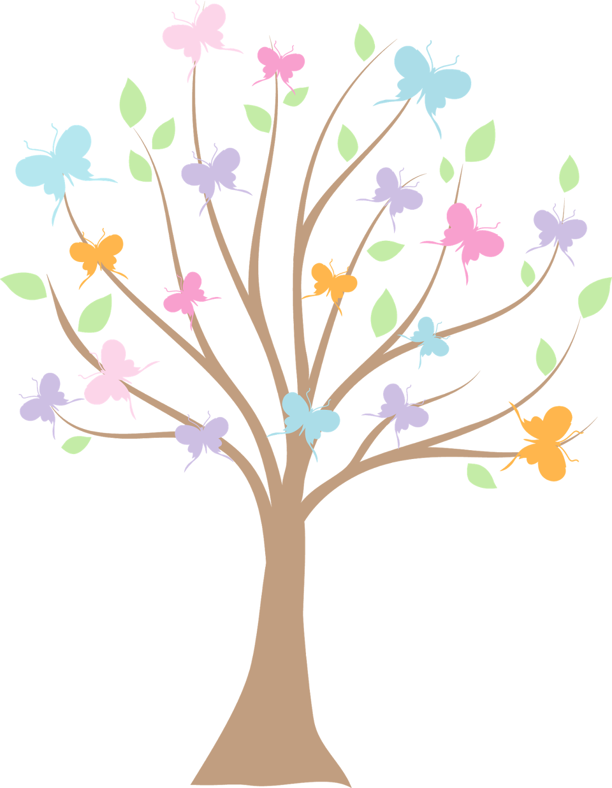 Butterfly tree clipart svg free Kit de Personalizados Tema