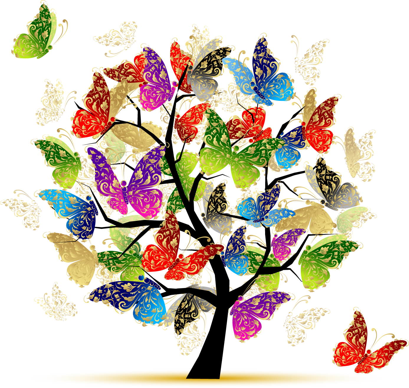 Butterfly tree clipart svg free library Donor Recognition • Moravian Hall Square Moravian Hall Square svg free library