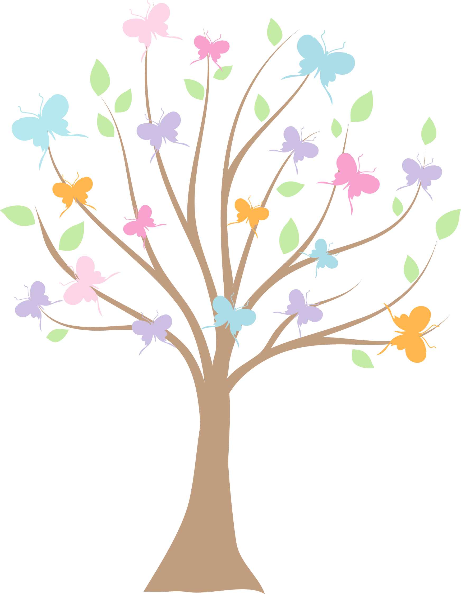 Butterfly tree clipart graphic stock Photo by @daniellemoraesfalcao - Minus   Digital Graphics ... graphic stock