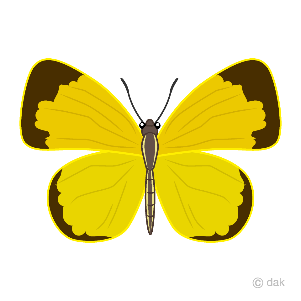 Butterfly yellow clipart clipart Yellow Butterfly Clipart Free Picture|Illustoon clipart