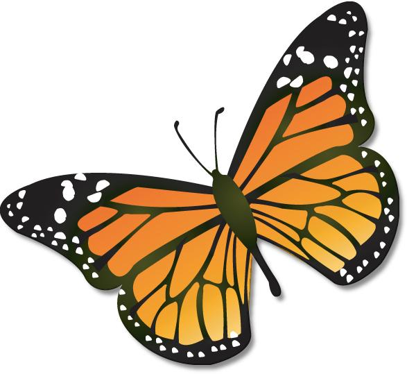 Butterliy clipart free library Butterflies butterfly clip art clipart – Gclipart.com free library