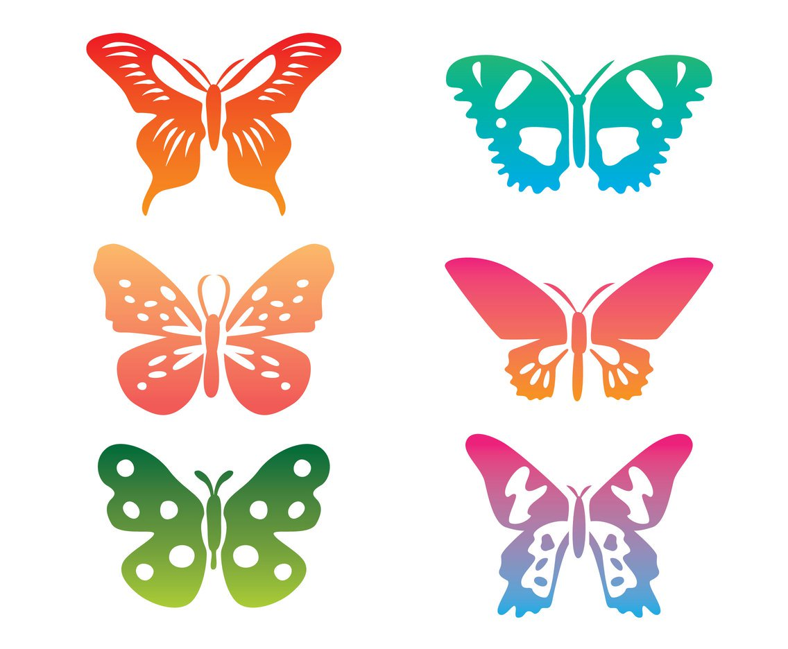 Butterliy clipart clip art freeuse Colorful Butterfly Clip Art Vector Vector Art & Graphics ... clip art freeuse
