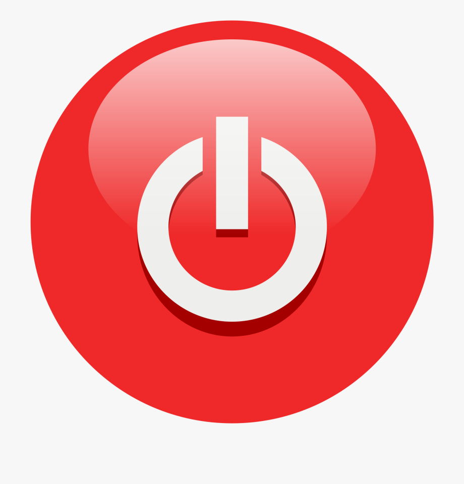 Clipart Info - Red Power Button Icon , Transparent Cartoon, Free ... banner transparent stock