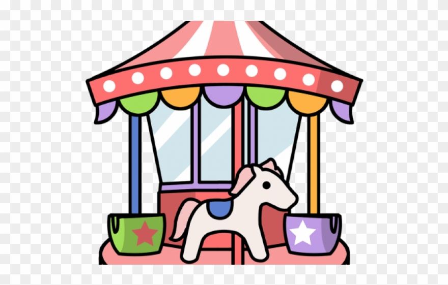 Buy and ride clipart svg black and white Carousel Clipart File - Fun Fair Ride Cartoon - Png Download ... svg black and white