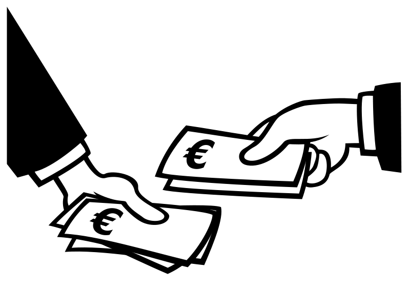 Earning money clipart outline clip black and white download 28+ Collection of Paying Money Clipart | High quality, free cliparts ... clip black and white download