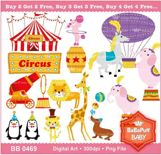 Buying clipart for commercial use. Buy get free circus
