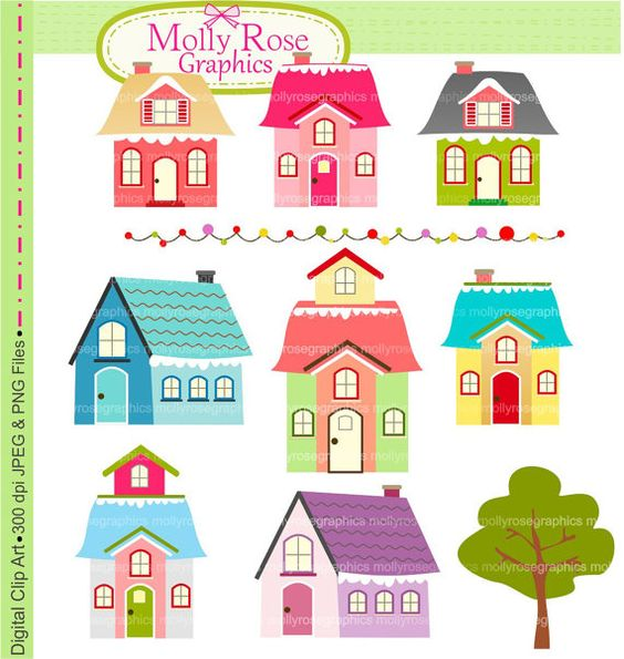 House digital clip art. Buying clipart for commercial use