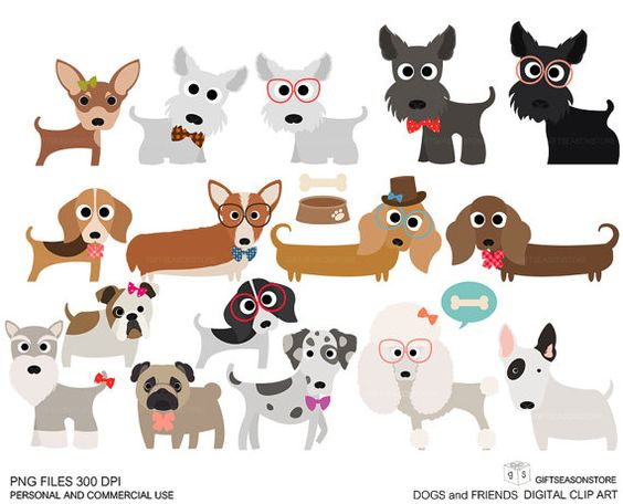 Buying clipart for commercial use graphic free library Dogs and Friends clip art part 1 for Personal and Commercial use ... graphic free library