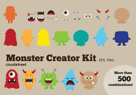 Buying clipart for commercial use. Monsters and little on