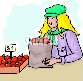 Buying fruits cliparts jpg download buying apples \