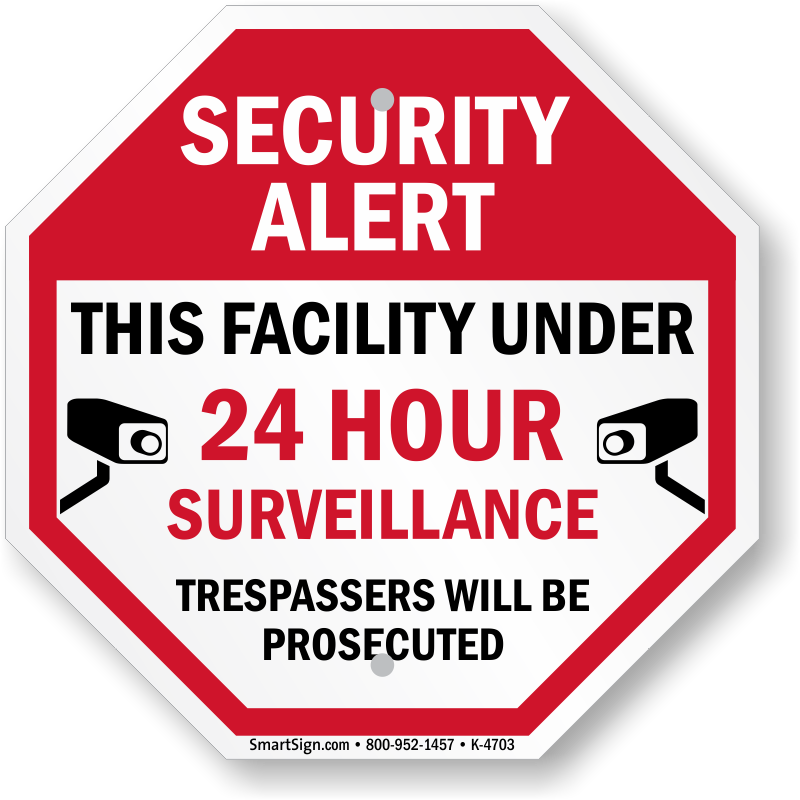 Buying house clipart clip freeuse download Video Surveillance Signs   24 Hour Security Protection Warning clip freeuse download
