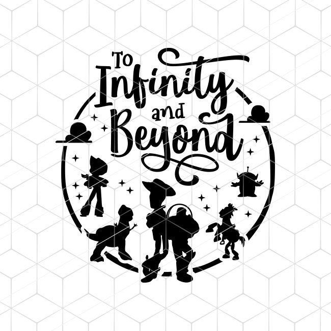 Infinity and beyond clipart graphic stock SVG To Infinity and Beyond SVG Quote Toy Story Pixar Cricut SVG ... graphic stock