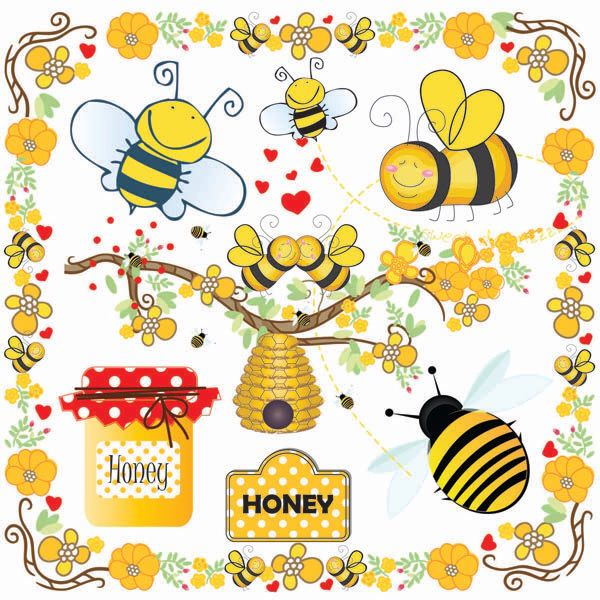 Buzzy bee clipart graphic freeuse Bees Clip Art-Bumble Bee Beehive Clip Art-Buzzy Bee Clip art-Honey ... graphic freeuse