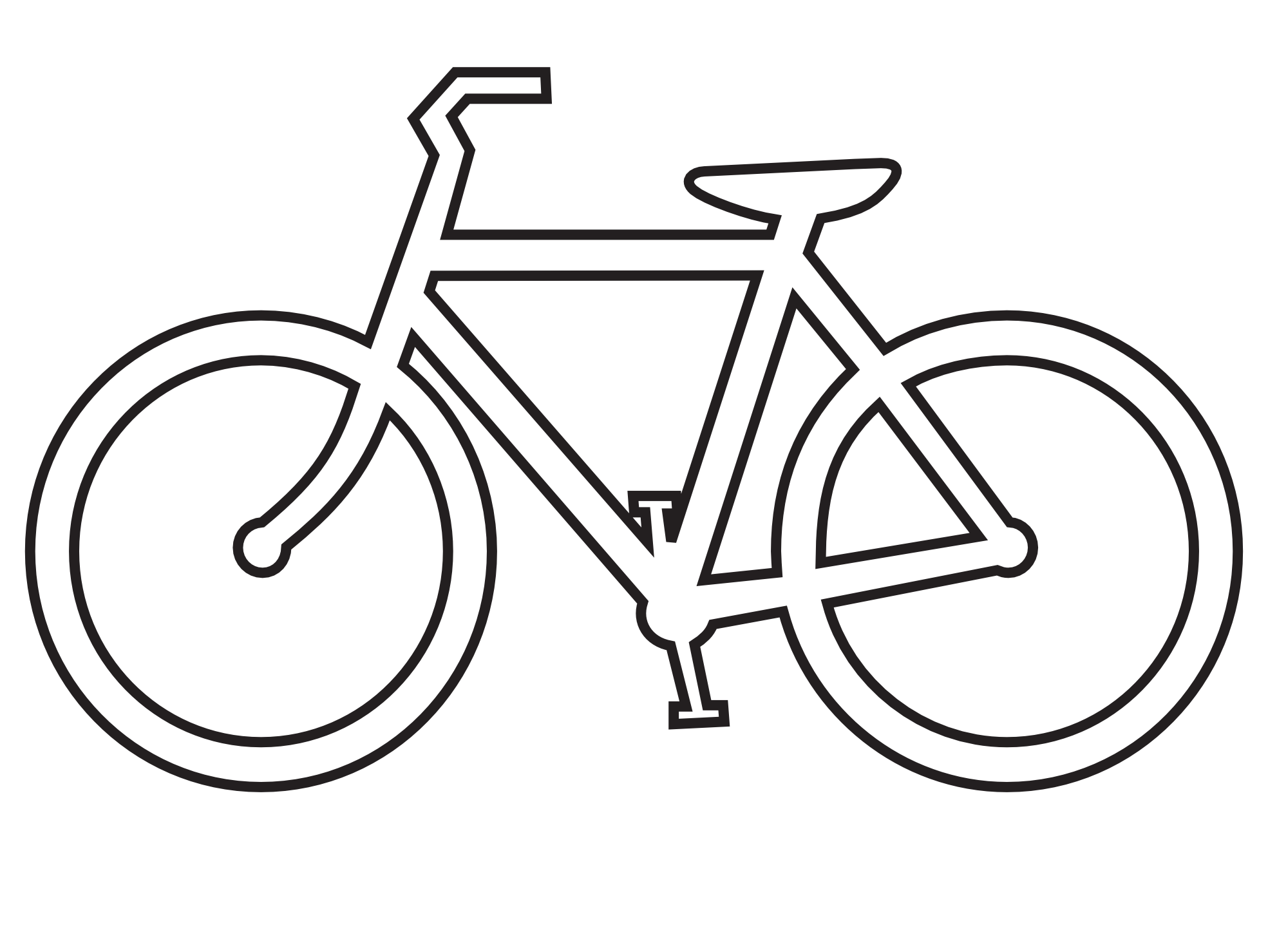 Bw bike clipart vector black and white Bicycle clipart outline, Bicycle outline Transparent FREE for ... vector black and white