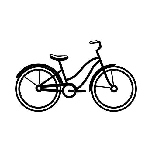 Bw bike clipart picture free library CRUISER BIKE BW Clip Art - Get Started At ThatShirt! picture free library