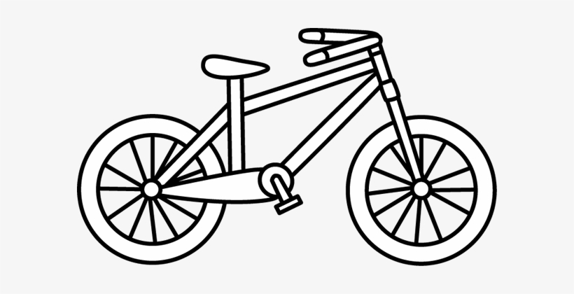 Bw clipart biking vector freeuse library Black And White Bicycle Clip Art - Bike Clipart Black And White ... vector freeuse library